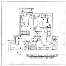 in apartment floor plans architectural floor plan two bedrooms apartment royalty
