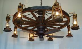 Western Ceiling Fans With Lights Wagon Wheel Western Ceiling Fans With Lights The Decoras