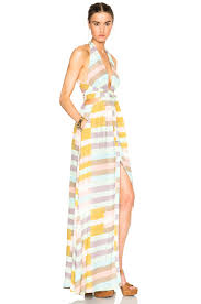 Flag Dress Mara Hoffman Wrap Top Maxi Dress In Flag Stripe Sage Fwrd