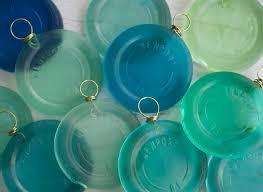 newport ri suncatcher ornament resin sea glass bottle bottom