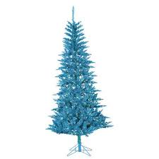 tinsel tree 7 1 2 lighted tinsel tree teal tuscany 8568187 hsn