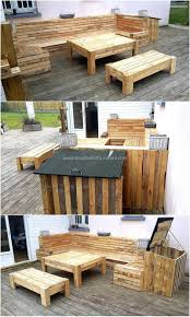 Patio Furniture Pallets by Convert Old Used Pallets Into Something Useful Wood Pallet Furniture