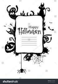 halloween frame halloween frame with vector silhouettes of an owl jack o lanterns