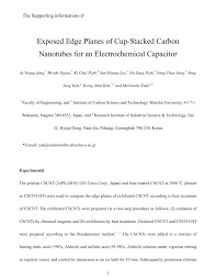 exposed edge planes of cup stacked carbon nanotubes for an