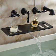 Bronze Bathtub Faucet Waterfall Oil Rubbed Bronze Bathtub Faucet Wall Mount Three Handle