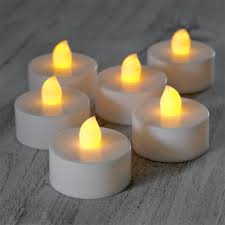 Set Of 24 Battery Operated Flickering Led Tea Lights By Lights4fun