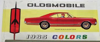 oldsmobile color selector paint chip u0026 interiors sales folder orig