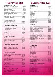 hairstyle price list images of hair salon price list sc