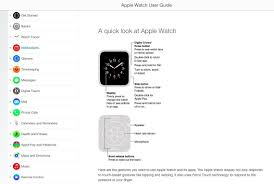 the official apple watch user guide is now available