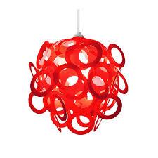 loopy lu red lamp shade designed by lothair hamman u2013 funky lamp shades