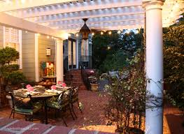 How To String Patio Lights Backyard Patio Ideas White String Lights In Designs 7