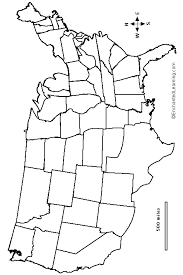 outline map continental usa with state borders