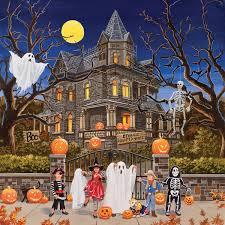 beware haunted house jigsaw puzzle puzzlewarehouse com
