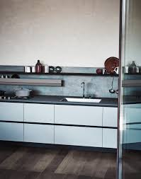 melamine linear fitted kitchen without handles maxima 2 2