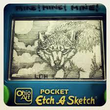 etch a sketch art werewolf by blvqwulph on deviantart