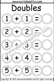doubles addition facts worksheets addition doubles free printable worksheets worksheetfun