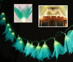 tropical flower lights 110v ac string lights teal green yellow