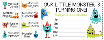 how to throw a monster party free printable invites and food labels