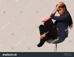 High Sitting Chair Beautiful Black Sitting On High Stock Photo 268692380