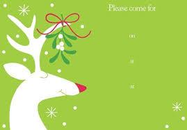 christmas invitations christmas invitations 16 party invitations mistletoe