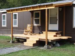 Mobile Home Modern Design Front Porch Designs For Mobile Homes Homesfeed With Image Of