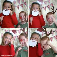 holiday photo booth props diy kit paper and cake paper and cake