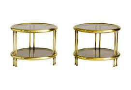 brass and glass end tables glass end tables
