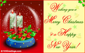 wishing you a merry and a happy new year ecard image