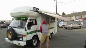 toyota motorhome 4x4 toyota hiace truck rv 1992 diesel f5 opening awning youtube