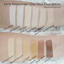tarte light medium neutral tarte amazonian clay stick foundation tarte clay stick foundation