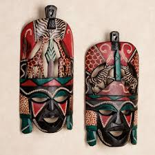 wall masks tribal wall mask set