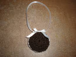 free handmade crochet oreo cookie christmas ornament christmas
