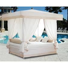 Outdoor Wicker Patio Furniture Round Canopy Bed Daybed - furniture beauteous picture of outdoor living space decoration