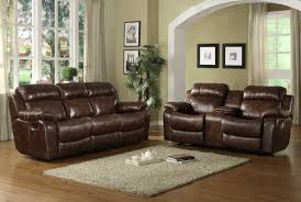 Ashley Furniture Exhilaration Sectional Ashley 42401 Exhilaration Chocolate Leather Reclining Sofa Set In