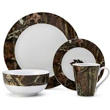 dining room lovely and sweet mossy oak dinnerware for dining
