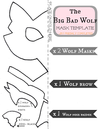halloween mask printable templates freshly completed the big bad wolf costume tutorial cosplay