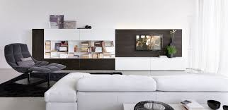 contemporary tv wall unit wooden lacquered wood olivieri