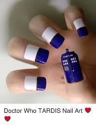Nail Art Meme - doctor who tardis nail art meme on me me