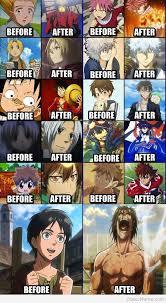 Before And After Meme - otaku meme 盪 anime and cosplay memes 盪 before and after anime style