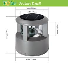 Solar Powered Bollard Lights - new products 2015 ce solar bollard lamp with led u0026 solar panel for