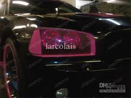Light Pink Car 30cm 10m Glossy Pink Color Tint Headlights Fog Lights