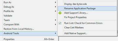 android package name asp net and sql server how to change package name in android eclipse