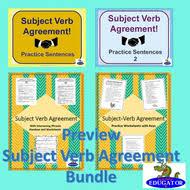 subject verb agreement practice resource bundle by happyedugator