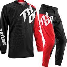 thor motocross helmets thor prime 2015 slash black red enduro mx quad jersey and pants