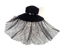 funeral veil rue s funeral hat with mourning veil sold the estate of rue