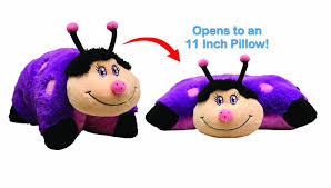 light up ladybug pillow pet amazon com pillow pets 11 inch wees dreamy ladybug toys games