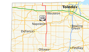 Map Of Bowling Green Ohio by Ohio State Route 108 Wikipedia