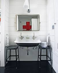 Industrial Style Bathroom Vanity by Get This Look Bright White Double Vanity Bath Remodelaholic