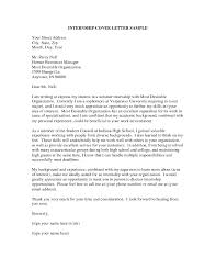 Unusual Cover Letters Merry How To Write An Internship Cover Letter 8 16 Examples Of