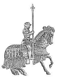 coloriage moyen ge 5 moyen age tournoi de chevaliers moyen ge